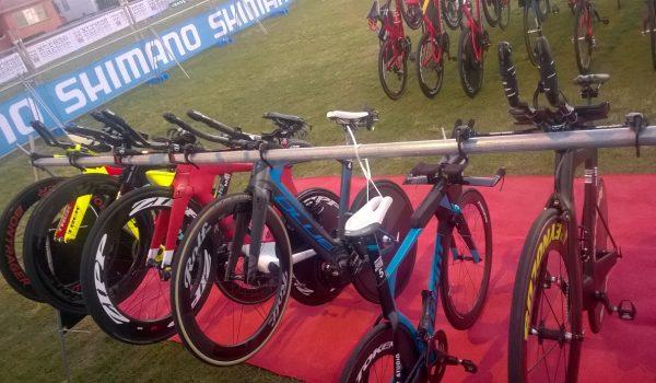 Triathlon wissel fietsen
